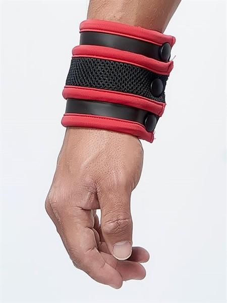 Mister B Neoprene Wrist Wallet Black Red