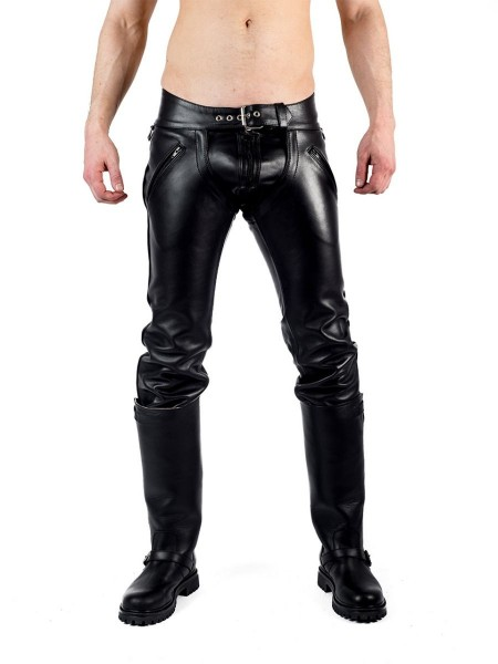 Mister B Leather Convertible Jeans
