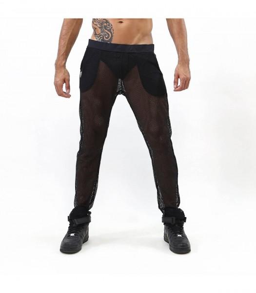TOF - IBIZA MESH PANTS - BLACK