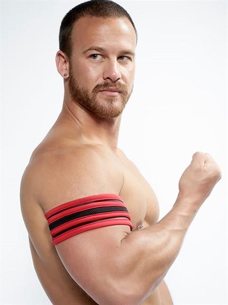 Mister B Neoprene Biceps Band Black Red