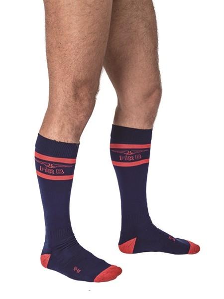 Mister B Urban Football Socks Navy Red