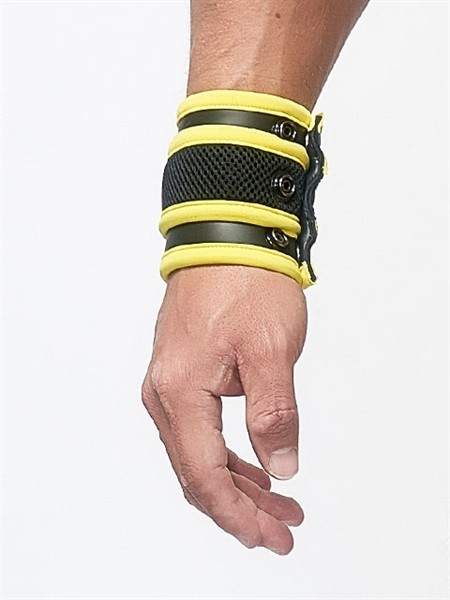 Mister B Neoprene Wrist Wallet Black Yellow