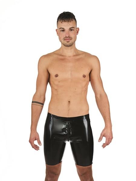 Mister B Rubber Fucker Shorts Schwarz Weiß