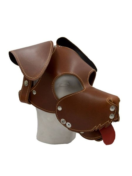 Mister B Floppy Dog Hood Stitched - Brown