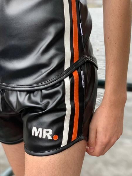 Mr Riegillio MR Mini Short - Black - Orange Stripe