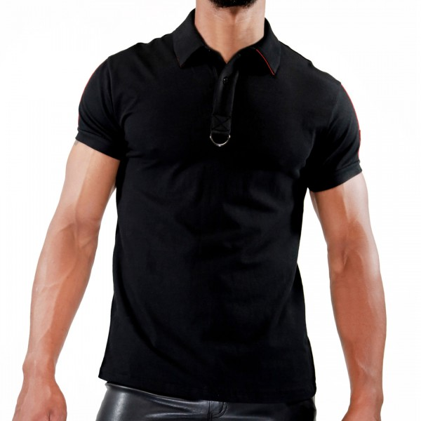TOF - SMART POLO BLACK/RED