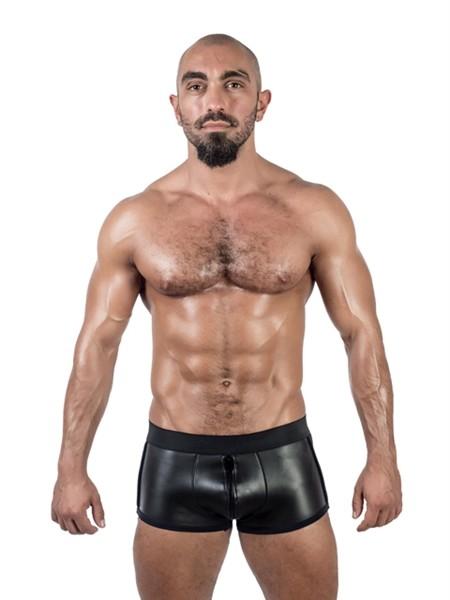 Mister B Neoprene Shorts 3 Way Full Zip Black