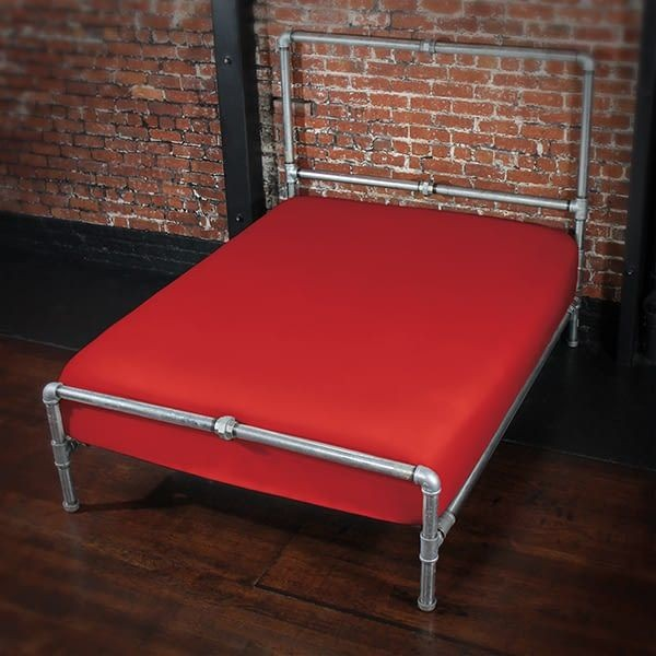 Sheets of SF Fitted Sheet 140 x 200 x 25 cm - Red