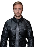 Mister B Leather Police Shirt Long Sleeves