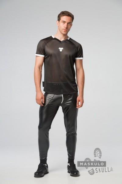 MASKULO S. Fetish Mesh T-Shirt - Black/White