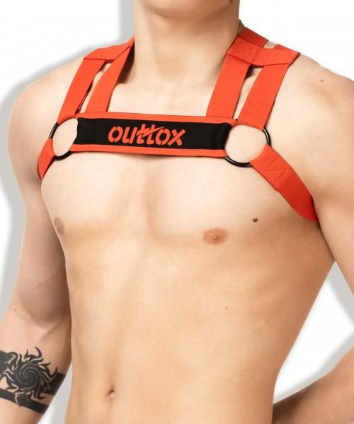 OUTTOX - Fetisch Bulldog Harness - Rot