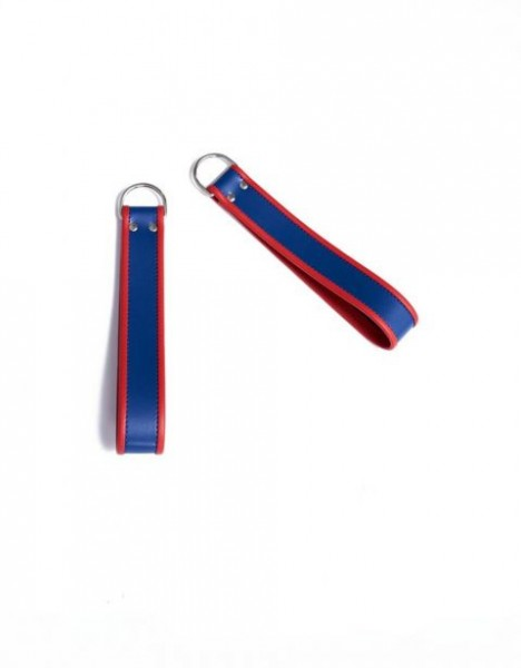 Mister B Ankle Sling Loops Blue With Red Piping