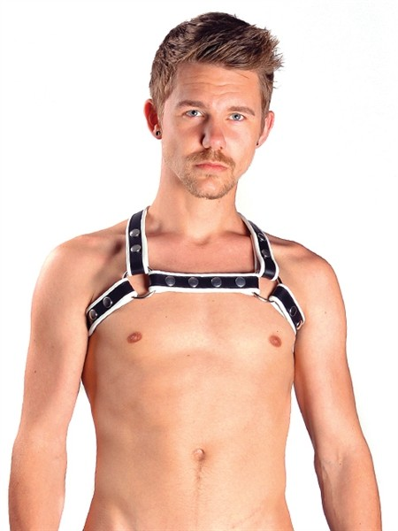 Mister B Leather X-Back Harness Premium White