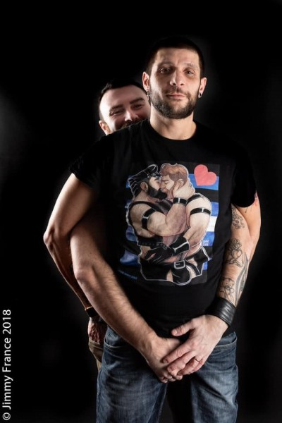 ProudBear - The Kiss - Leather Edition T-Shirt - Open