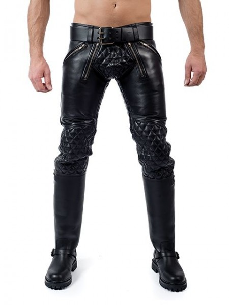 Mister B Leather Padded Sailor Jeans