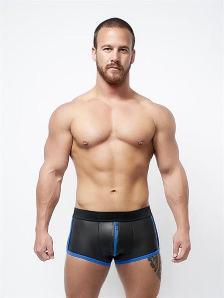 Mister B Neoprene Shorts 3 Way Full Zip Black/Blue