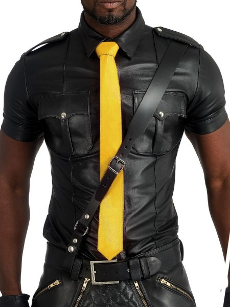 Mister B Leather Tie Stitched - Yellow