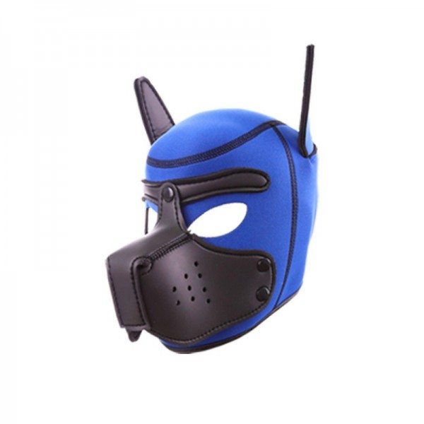 Neoprene Puppy Hood - Blue/Black - One Size