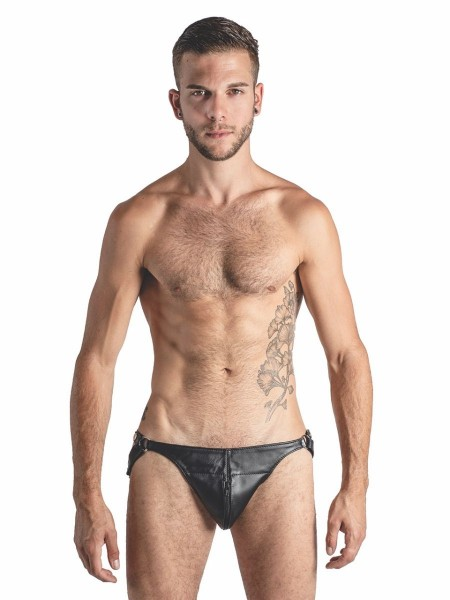 Mister B Leather Posing Pouch Two Belts Zip