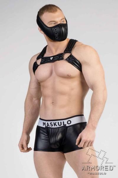MASKULO - Männer-Fetisch Bulldog Harness 2.0 - Schwarz