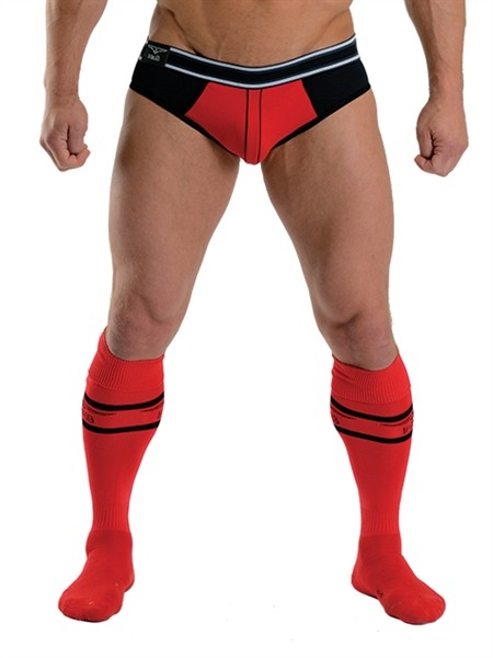 Mister B URBAN Football Socks with Pocket Red
