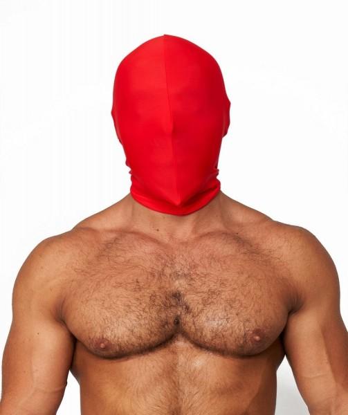 Mister B Lycra Hood No Holes Red