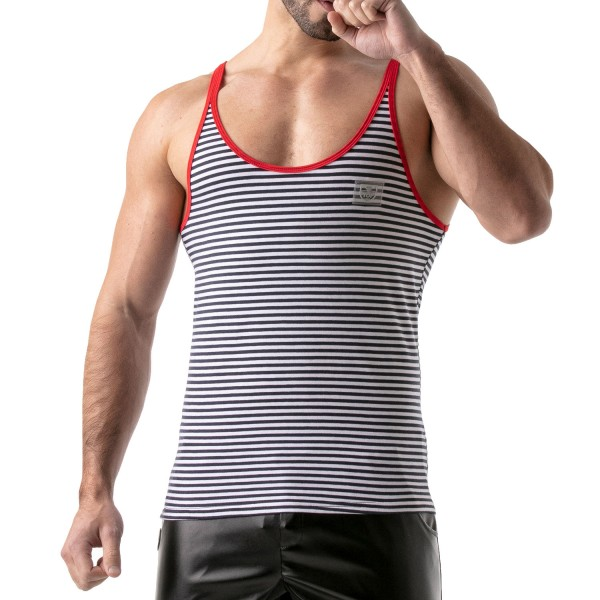 TOF - STRIPES TANK TOP - NAVY-RED