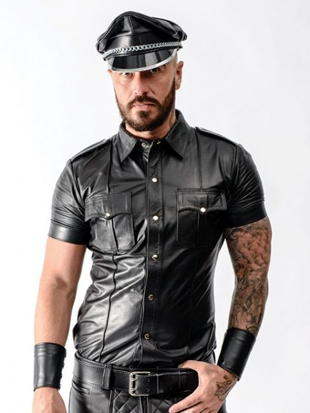 Mister B Leather Police Shirt Short Sleeves