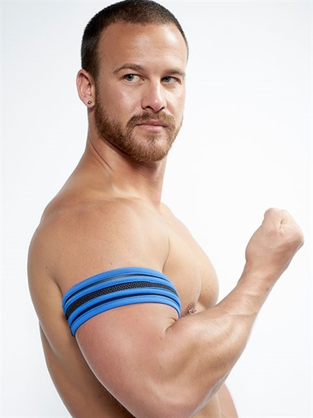 Mister B Neoprene Biceps Band Black Blue