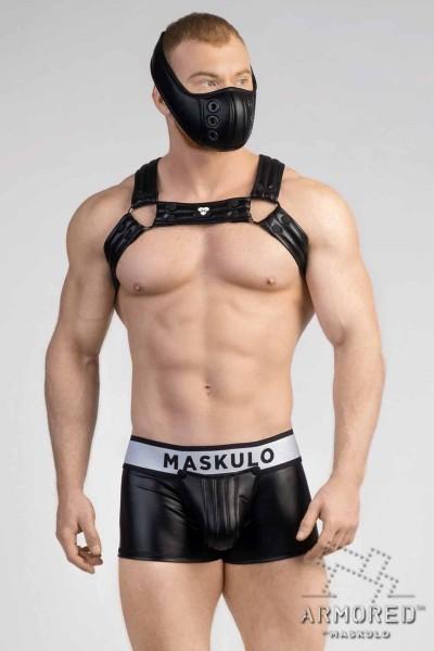 MASKULO - Männer-Fetisch Bulldog Harness 2.0 - All Black