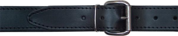 Mister B Leather Belt Stitched 4 cm