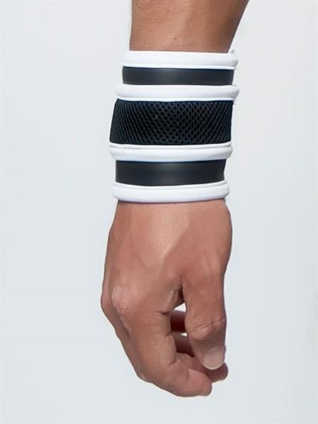 Mister B Neoprene Wrist Wallet Black White