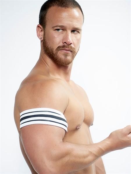 Mister B Neoprene Biceps Band Black White