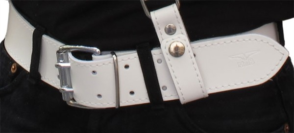 Mister B Leather Belt White 5 cm