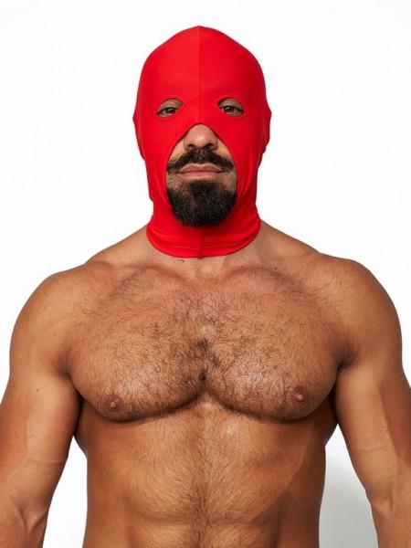 Mister B Lycra Cocksucker Hood Red