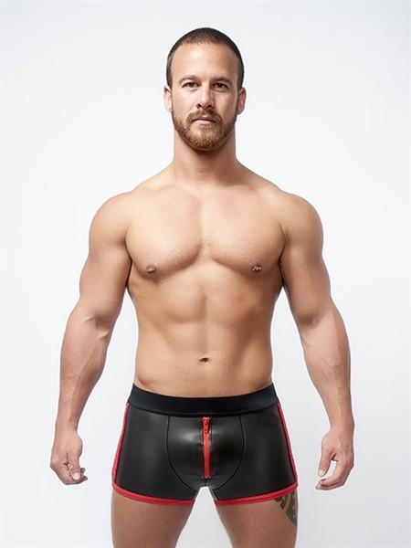 Mister B Neoprene Pouch Shorts Black Red