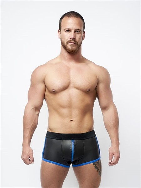 Mister B Neoprene Shorts 3 Way Full Zip Black/Blue