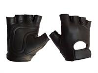 Mister B Leather Fingerless Gloves