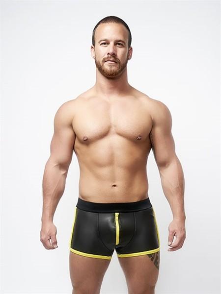 Mister B Neoprene Pouch Shorts Black Yellow