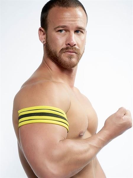 Mister B Neoprene Biceps Band Black Yellow
