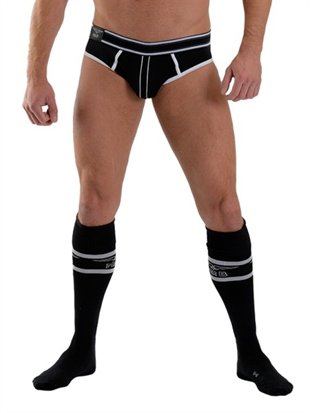 Mister B URBAN Football Socks with Pocket Black