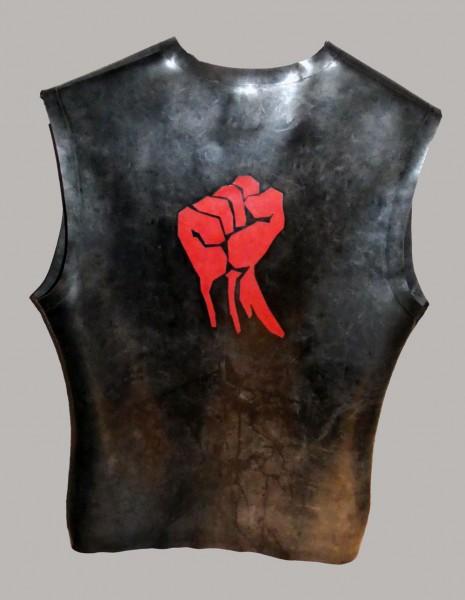 RACTION Rubber Sleeveless T-Shirt Black - Fist Faust
