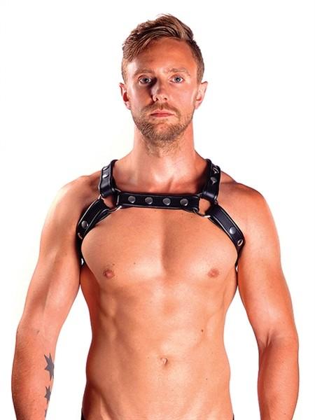 Mister B Leather X-Back Harness Premium Black