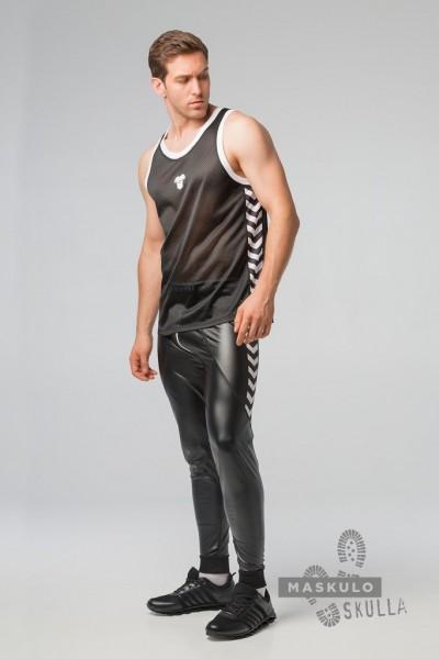 MASKULO S. Fetish Mesh Tanktop - Black/White