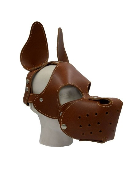 Mister B Shaggy Dog Hood Stitched - Brown