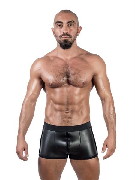 Mister B Neoprene Pouch Shorts Black