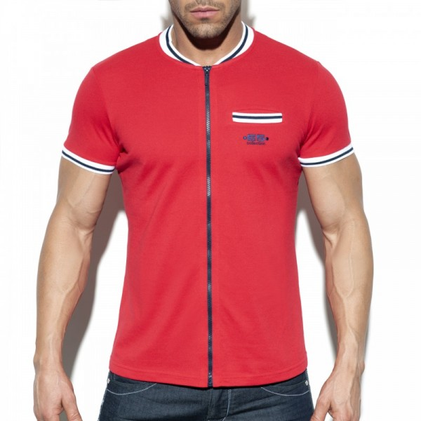ES - Full Zip MAO POLO - Red