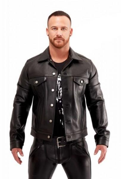 Mister B Leather Trucker Jacket