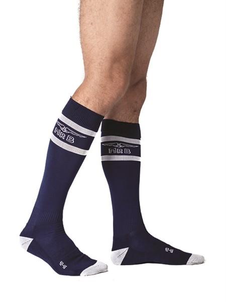 Mister B Urban Football Socks Navy White