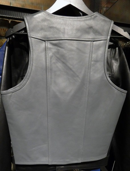 Mister B Leather Muscle Vest - Grey